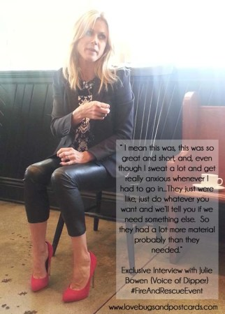 Exclusive Interview with Julie Bowen {Voice of Dipper} #FireAndRescueEvent
