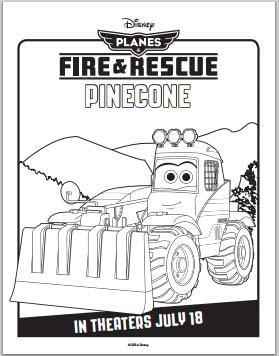 Fire: Planes and Rescue Coloring Pages - Pinecone