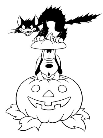 Pluto - Free Disney Halloween Coloring Pages