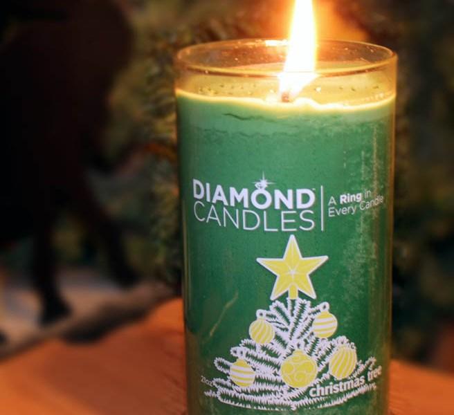 Diamond Candle Pine