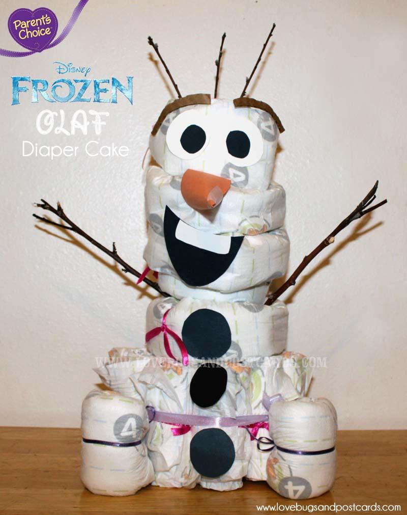 Parent S Choice Diapers Disney Frozen Olaf Diaper Cake