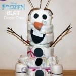 Disney Frozen Olaf Diaper Cake