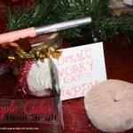 Apple Cider Mason Jar Gift with #BicMerryMarking #PeachParfait