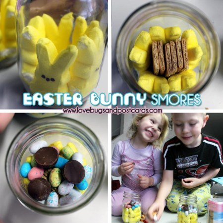 Easter Bunny Smores {in a mason jar}