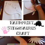 Handprint Stegosaurus Craft