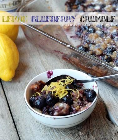 Lemon Blueberry Crumble Recipe