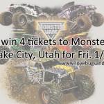 GIVEAWAY: Enter to win 4 tickets to Monster Jam in SLC, Utah for 1/22/16 #moremonsterjam