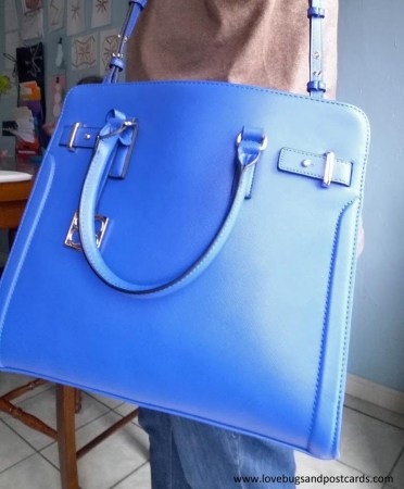 Iris Cobalt Key Item Saffiano Tote from 88.Eighty Eight