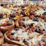 Slow Cooker Black Bean Chili Crostini