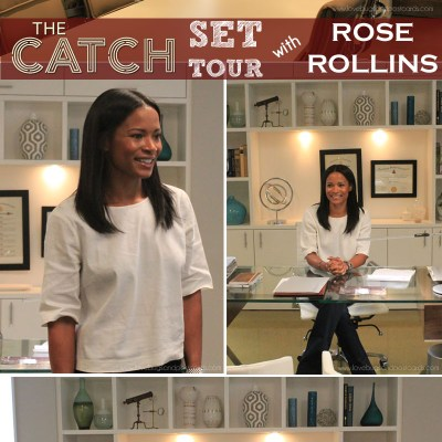 Set Tour of ABC's The Catch with Rose Rollins and Q&A with Peggy Schnitzer #ABCTVEvent #TheCatch #TGIT