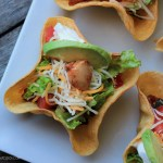 Mini Taco Salad Recipe {with Chicken, Bacon and Avocado}