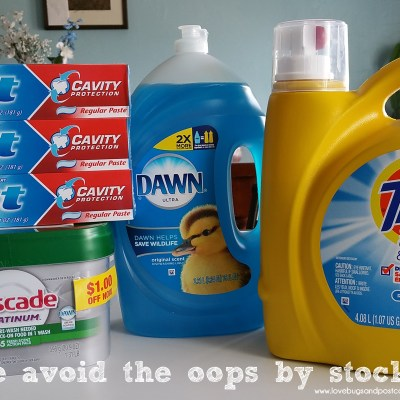 How we avoid the oops by stocking up