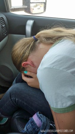 Dealing with motion sickness in children