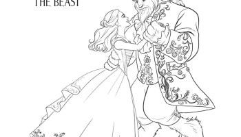disneys beauty and the beast coloring pages beautyandthebeast beourguestevent