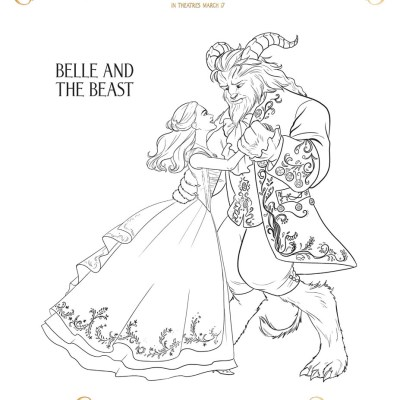 Disney's Beauty and the Beast Coloring Pages #BeautyAndTheBeast #BeOurGuestEvent