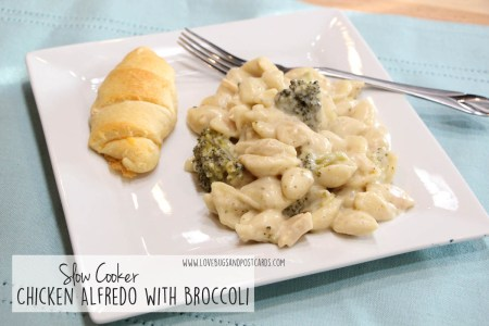 Slow Cooker Chicken Alfredo with Broccoli