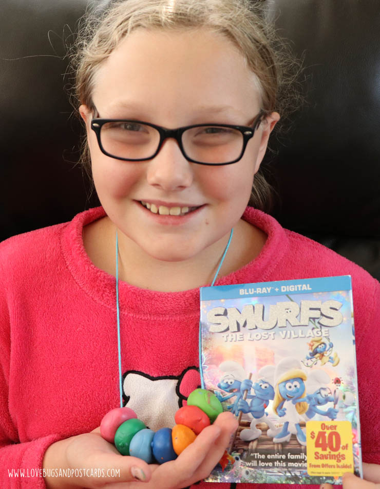 DIY Smurfette bead necklaces
