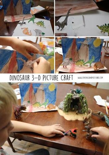 Dinosaur 3-D Picture Craft inspired by Schleich