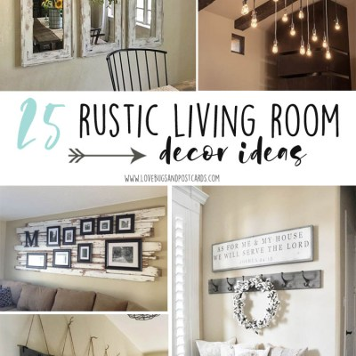 25 rustic living room decor ideas