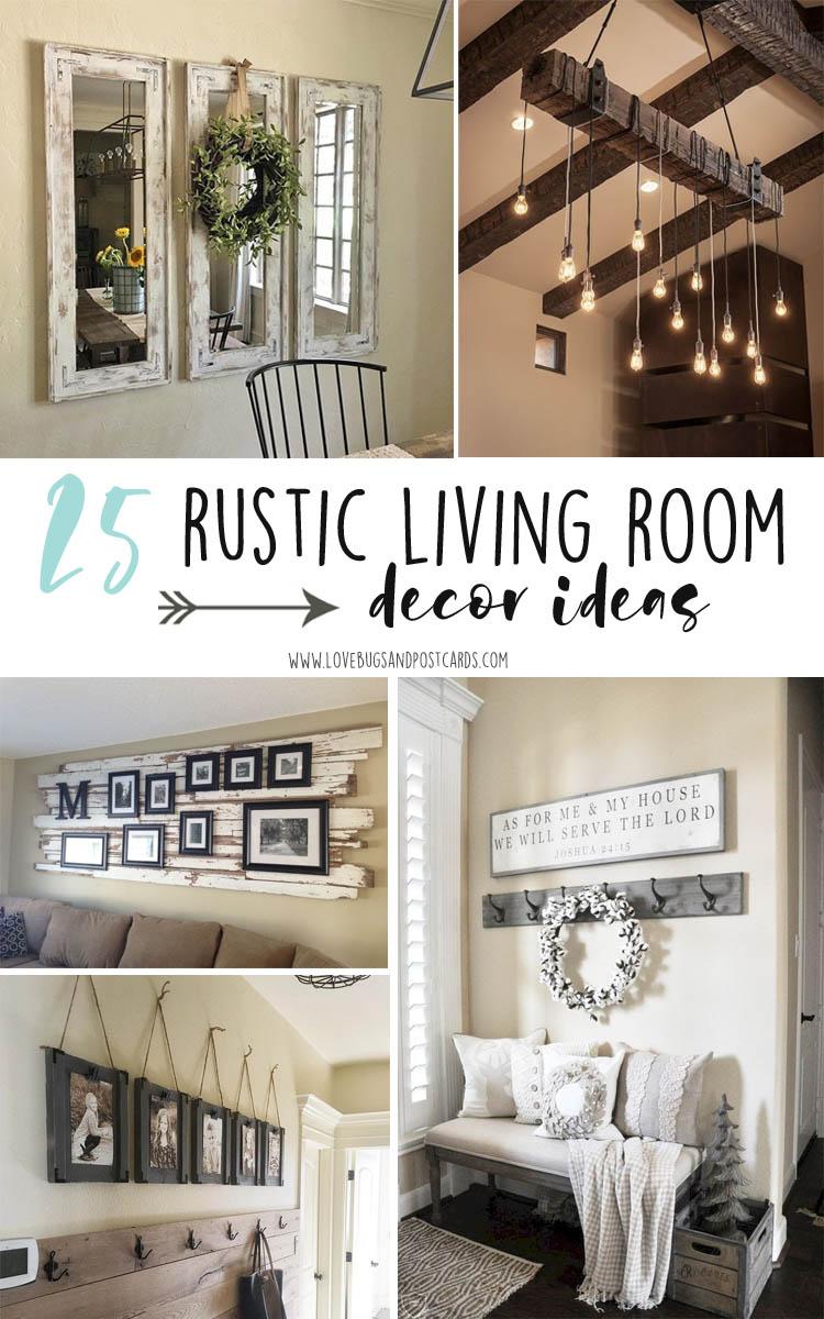 25 rustic living room decor ideas
