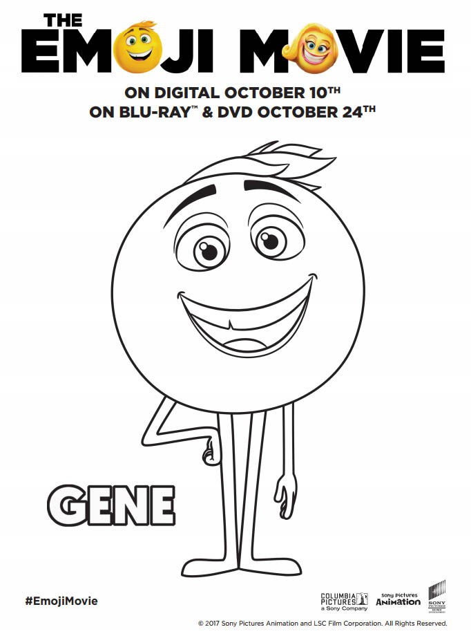 Gene Meh Emoji Coloring Page