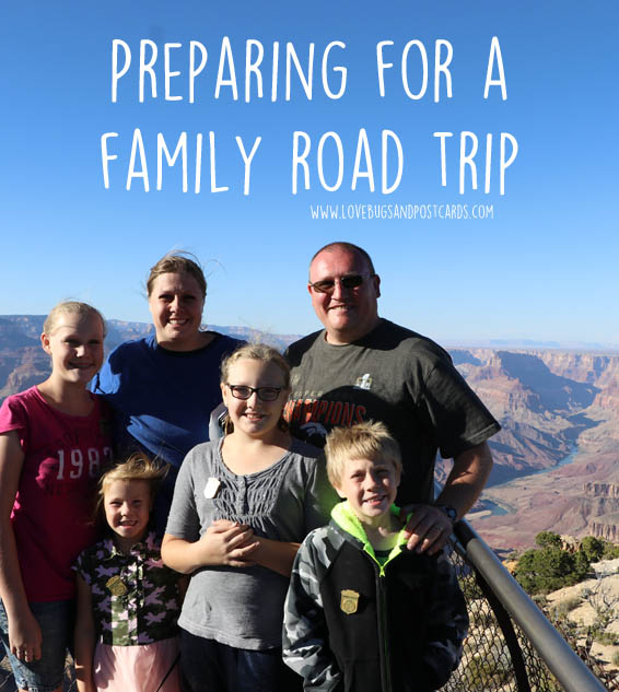 Preparing for a family road trip