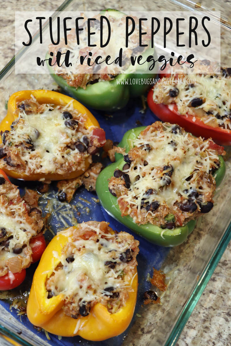 Stuffed Peppers with riced veggies