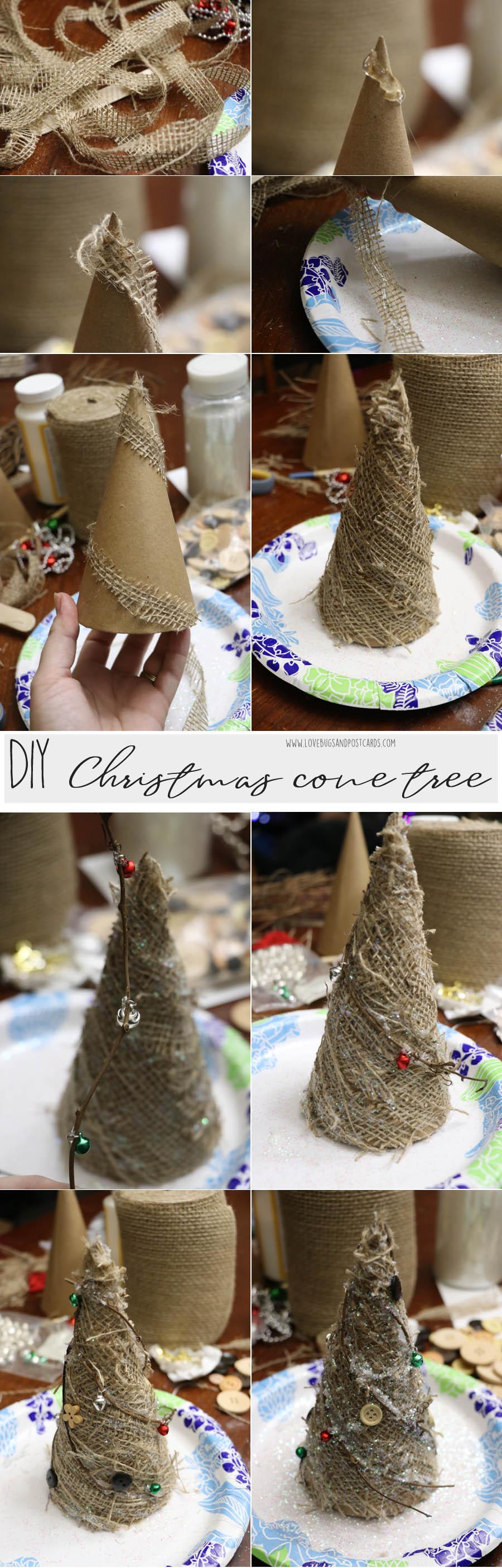 DIY Christmas Cone Trees