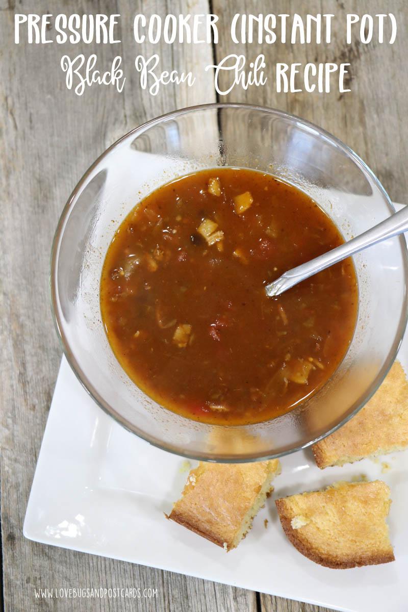 Pressure Cooker Black Bean Chili Recipe