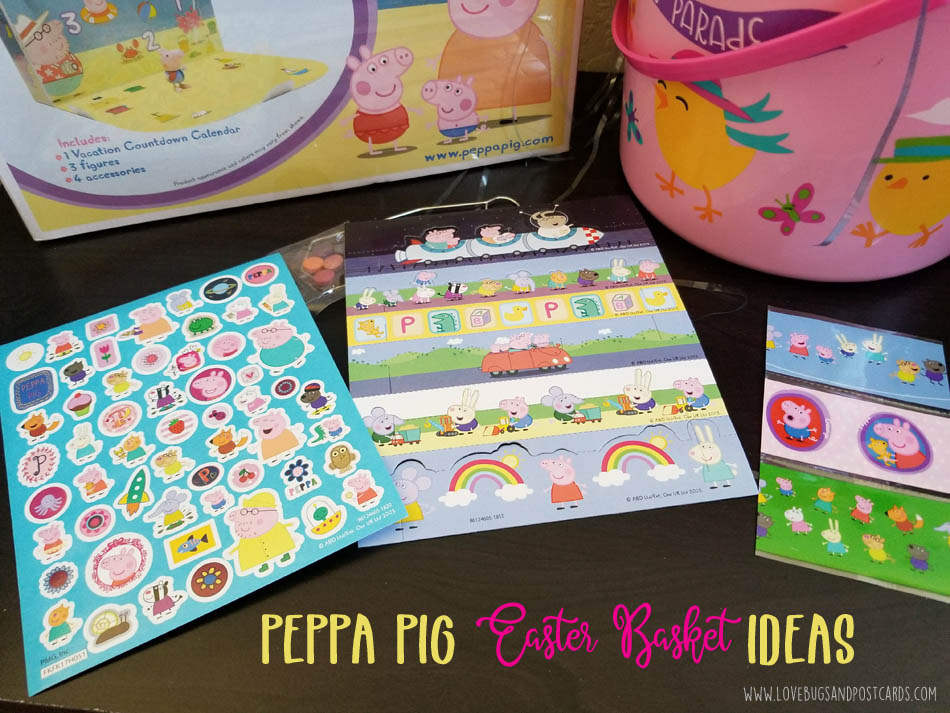 Oinktastic peppa pig easter basket ideas lovebugs and postcards the dvd has 12 peppa episodes that will delight and entertain your kids while they dye easter eggs and play with the stickers and storybook negle Image collections