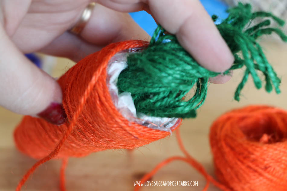 Twine Wrapped Carrot & Egg Decorations