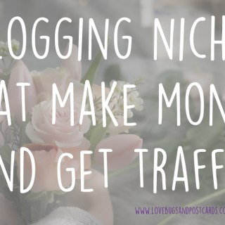Blogging Niches that make money and get traffic