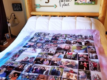 Collage.com Sherpa Photo Blanket