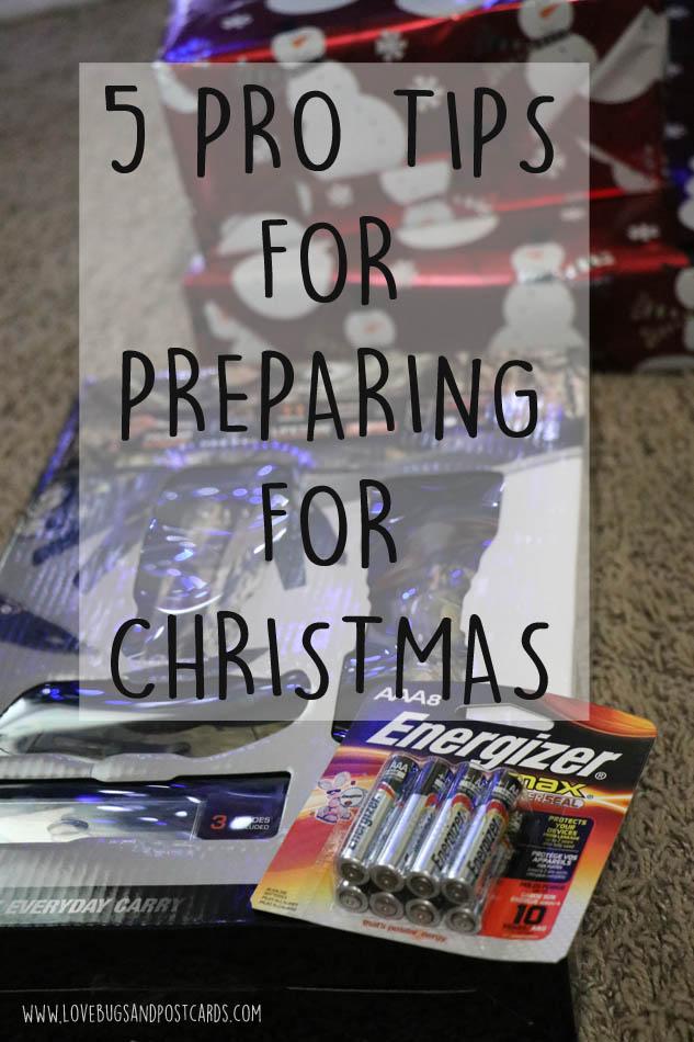 5 PRO TIPS FOR PREPARING FOR CHRISTMAS