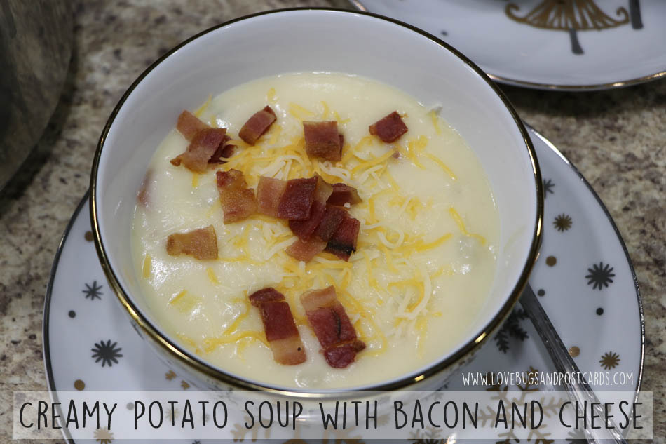 Creamy Potato Soup Recipe with Bacon and Cheese