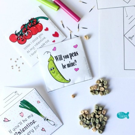 FREE Valentine's Printables - Printable Seed Packet Valentine