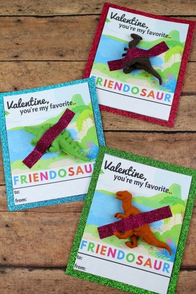 FREE Valentine's Printables - Dinosaur Valentine's Day Card
