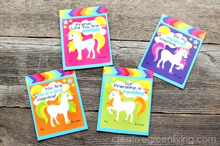 FREE Valentine's Printables - Printable Unicorn Valentine's
