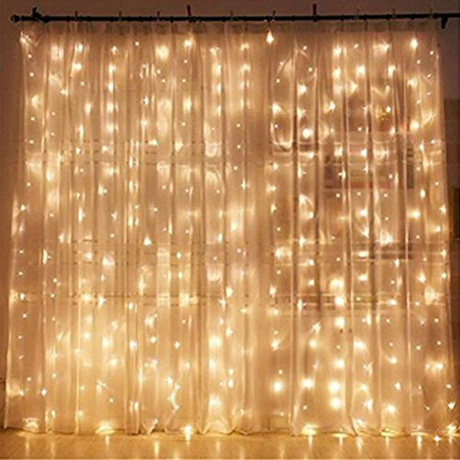 Unicorn Birthday Party Ideas - curtain lights