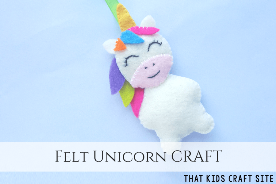 Unicorn Birthday Party Ideas - Felt Unicorn Craft