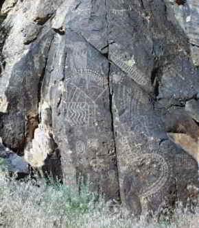 Petroglyphs in the Parowan Gap