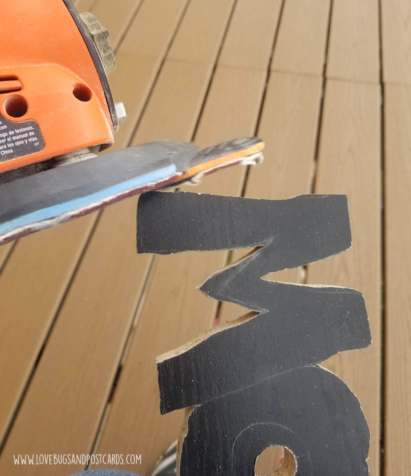 use an electric sander or sandpaper to sand the rough edges