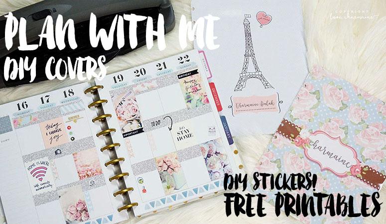Plan With Me Week 47 + DIY Cover Page! Free Printables!