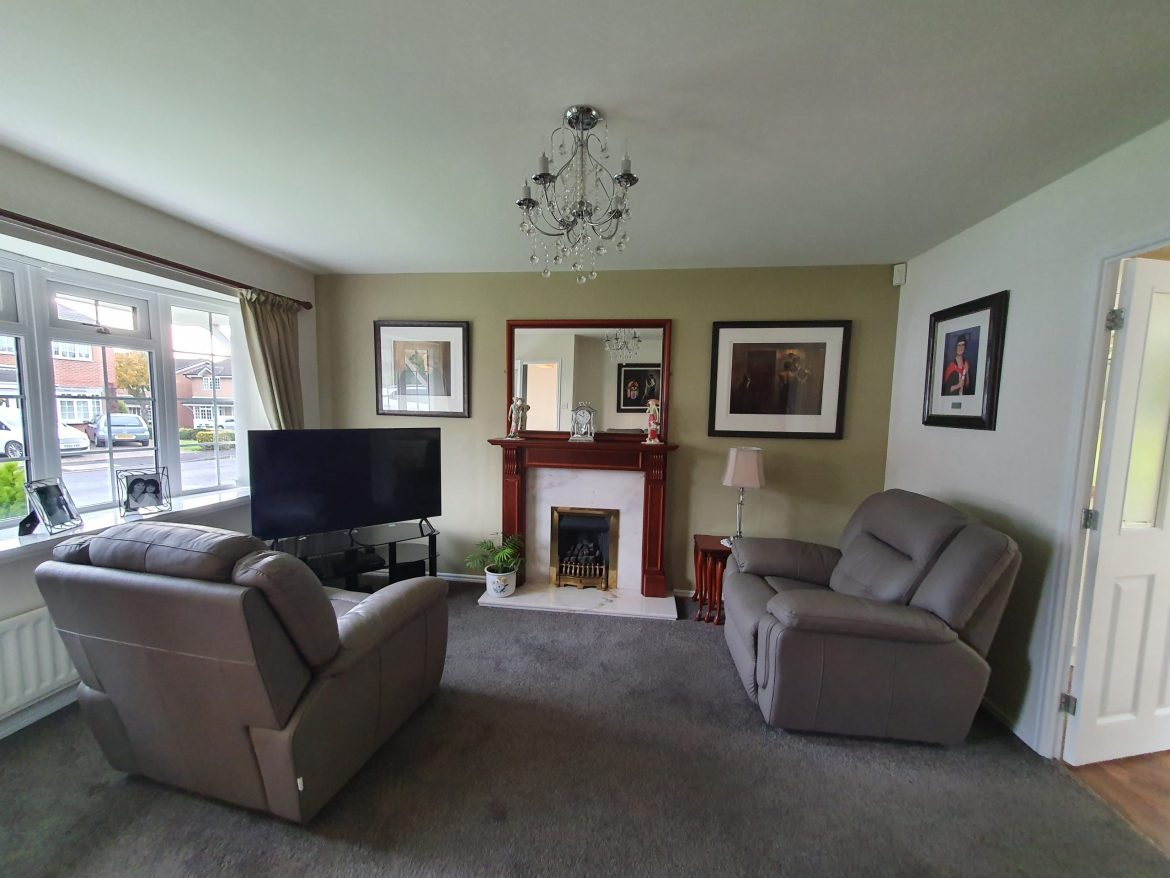 Living room decorated by Love Colour Ltd Painter and Decorator