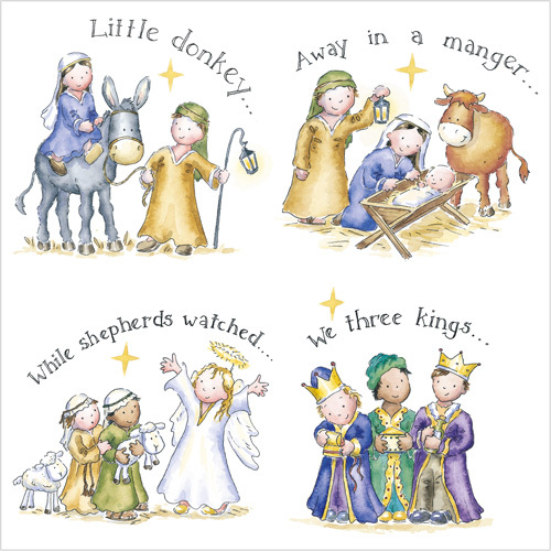Cute Nativity And Religious Christmas Cards With Charity