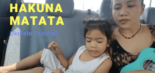 Hakuna Matata ukulele tutorial for kids
