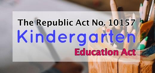 Kindergarten Education Act