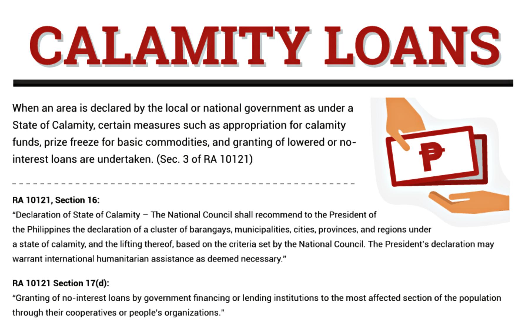 Pag-ibig and SSS Calamity Loan