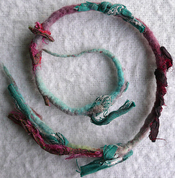 felted cord