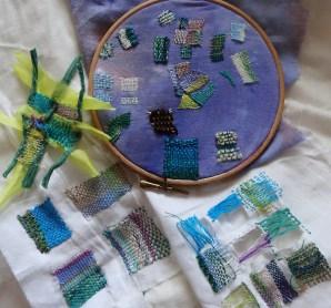darning, needleweaving